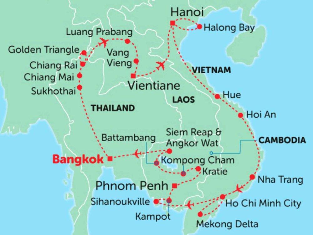 135Y10277 Das Beste von Indochina Karte
