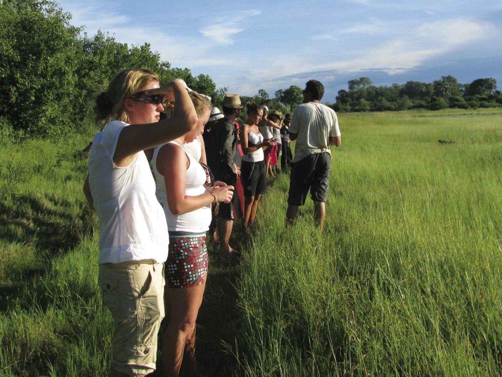 Wanderung im Okavango Delta
