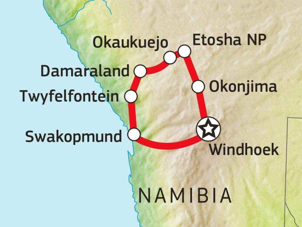 106Y21004 Abenteuer Nord-Namibia Karte