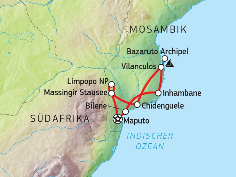 114Y32007 Mosambik Entdeckertour Karte