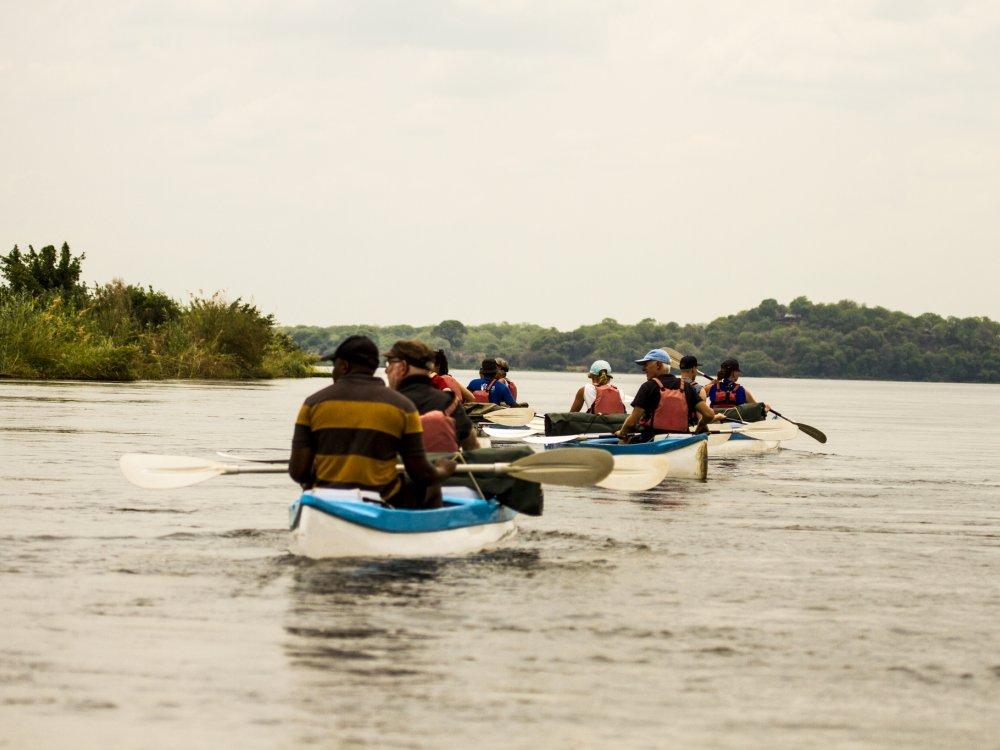 Kanutour auf dem Zambezi