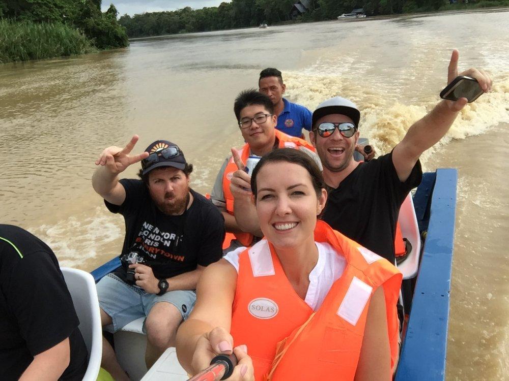 Borneo Flussfahrt auf dem Kinabatangan River