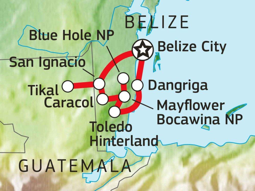 198Y30039 Atemberaubendes Belize Karte