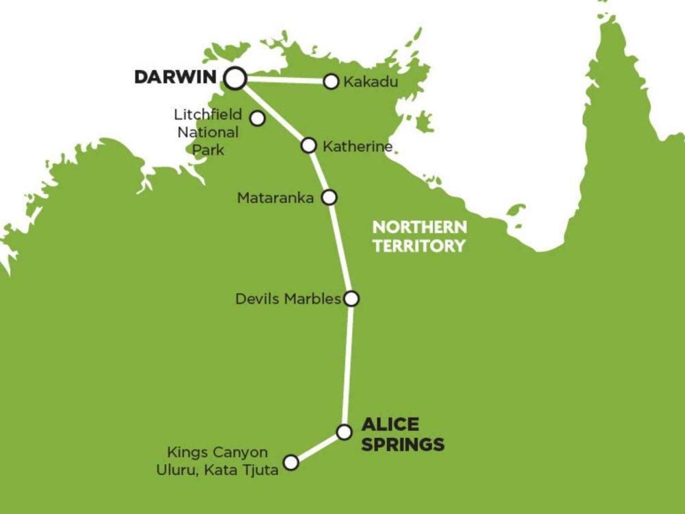 102A10054 Wayoutback Wanderer (nordwärts) Karte