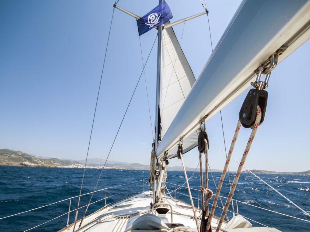 Segelboot vor Naxos