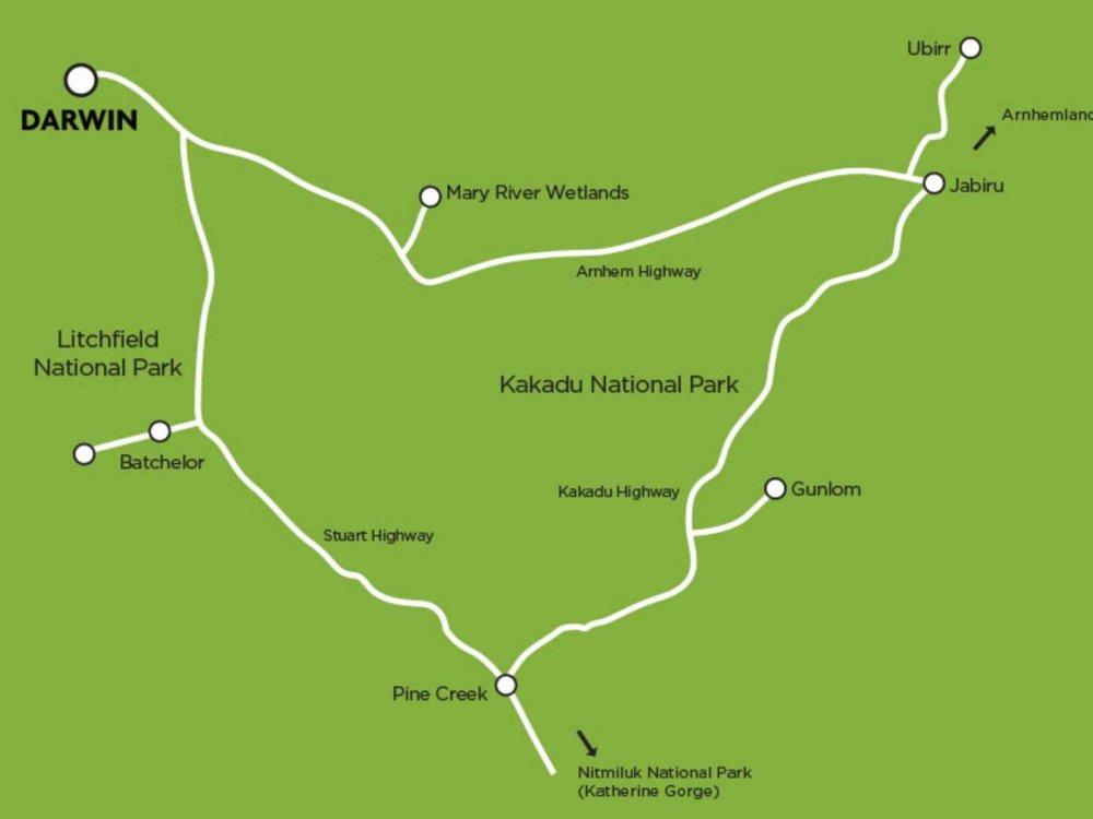 102A10063 Arnhem Land Dreaming Allradtour Karte