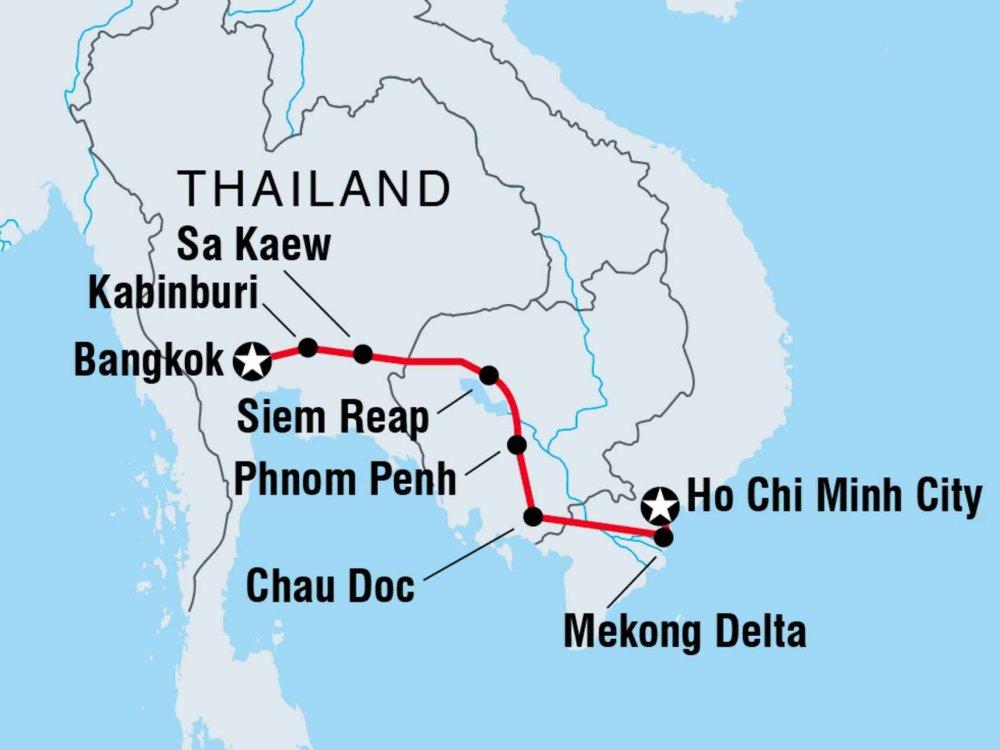 122Y40323 Mit dem Fahrrad durch Indochina Karte