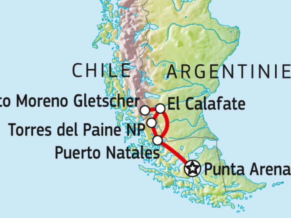 198Y50040 Patagoniens großartige Nationalparks Karte