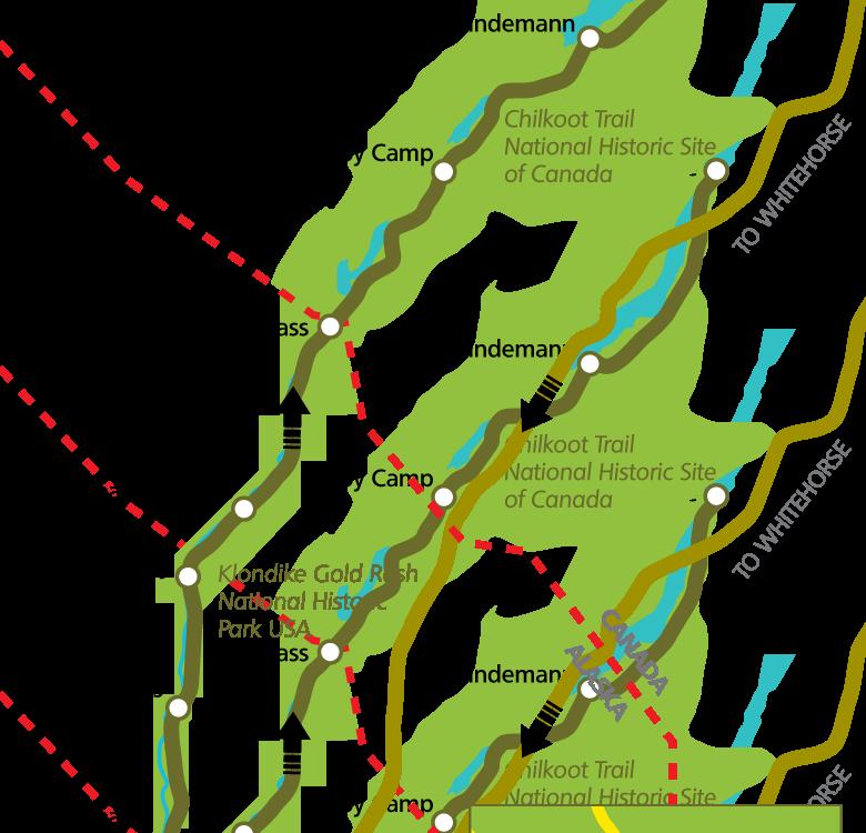 Chilkoot Trail Karte