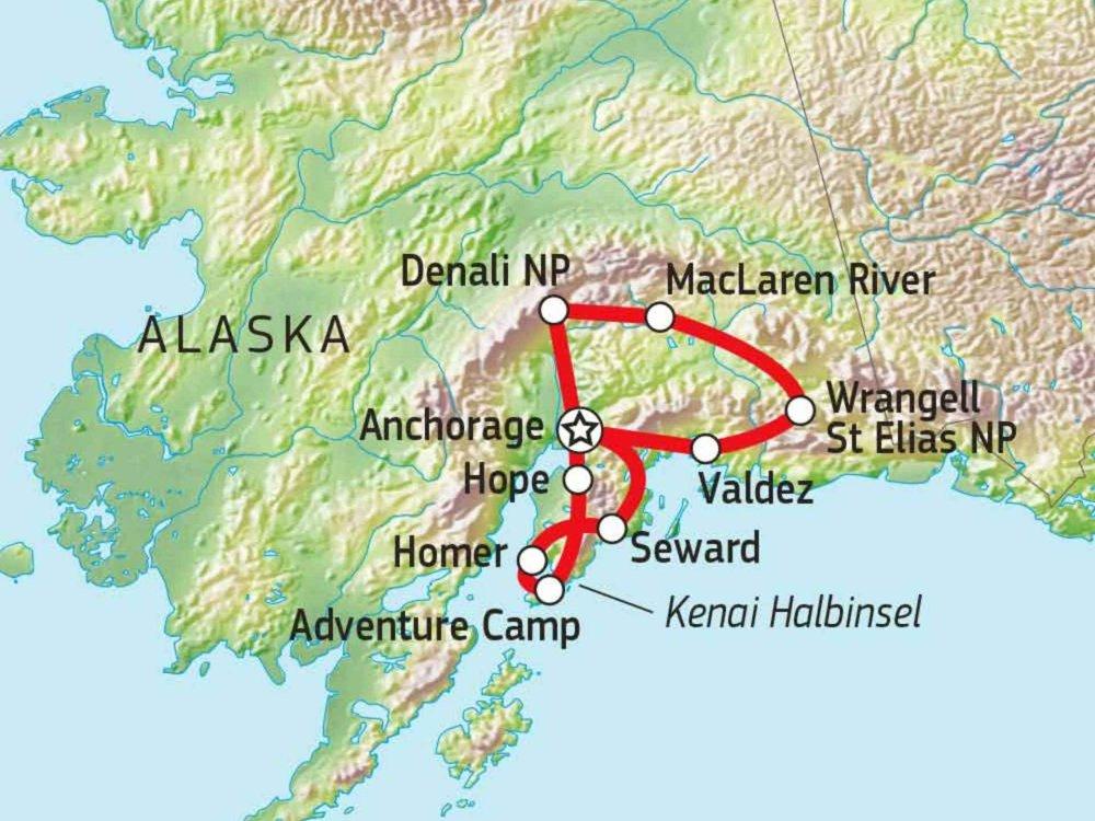 187C11001 Abenteuer Alaska Karte