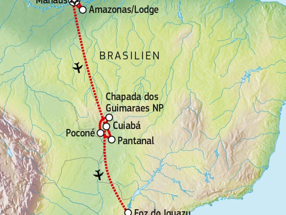 190Y11003 Naturparadies Brasilien Karte