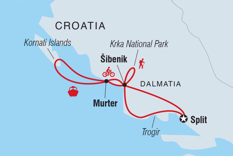 Karte Sibenik und Kornati Inseln