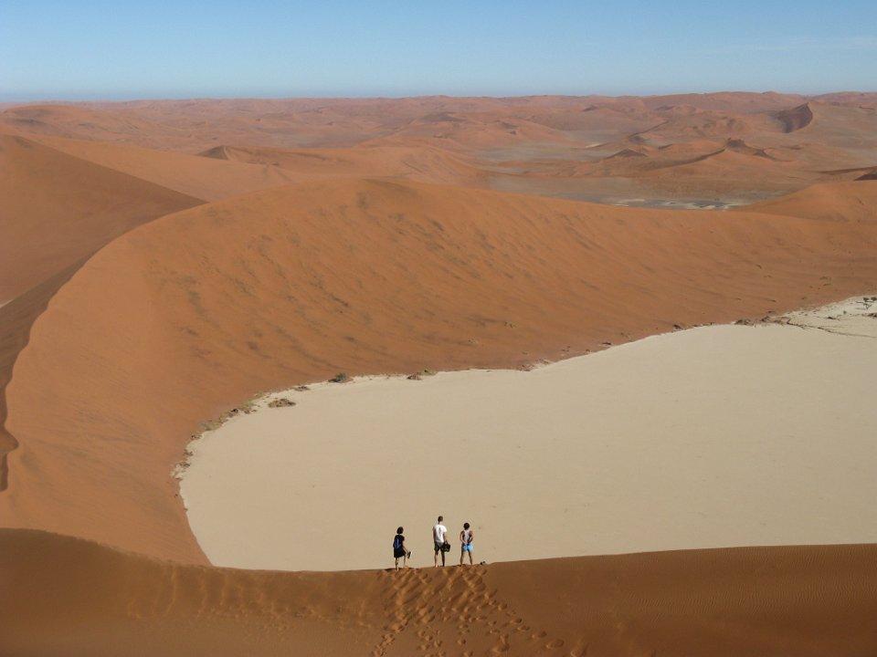 Ausblick von den Dünen in Sossusvlei