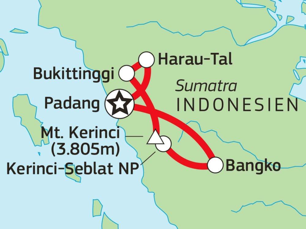 124Y21001 Expedition Westsumatra Karte