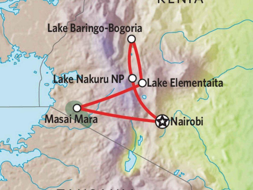 176Y10006 Kenia Lodge Safari VI Karte