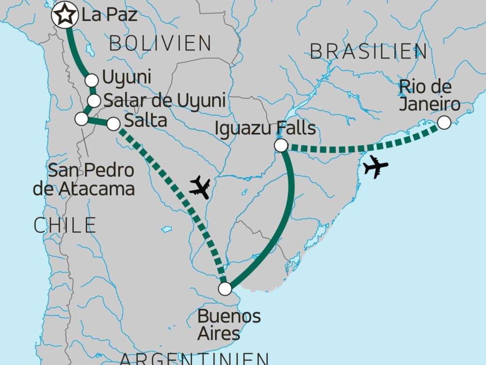 131Y21170 Südamerikanisches Kontrastprogramm Karte