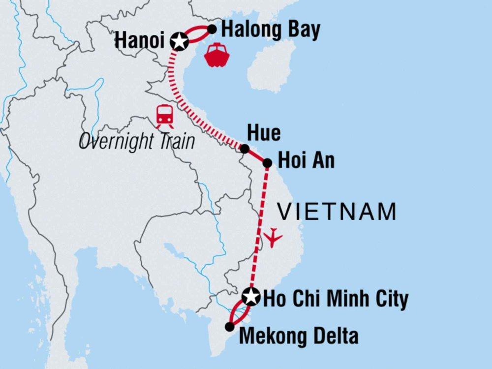 122Y10060 Vietnam Familien-Abenteuer Karte