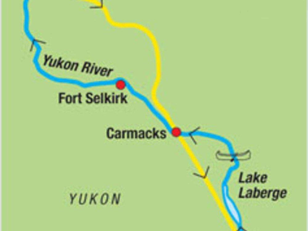187Y31001 Yukon River - Kanutour intensiv Karte