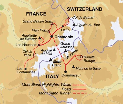 Wandererlebnis Mont Blanc Karte