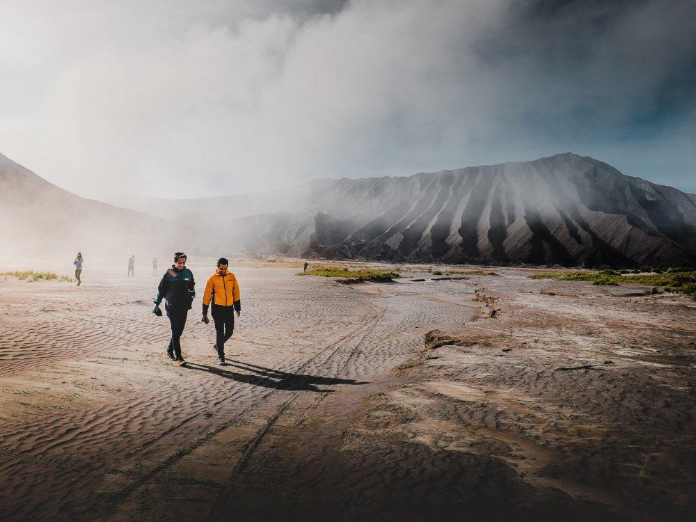 Wandern Bromo Sandmeer