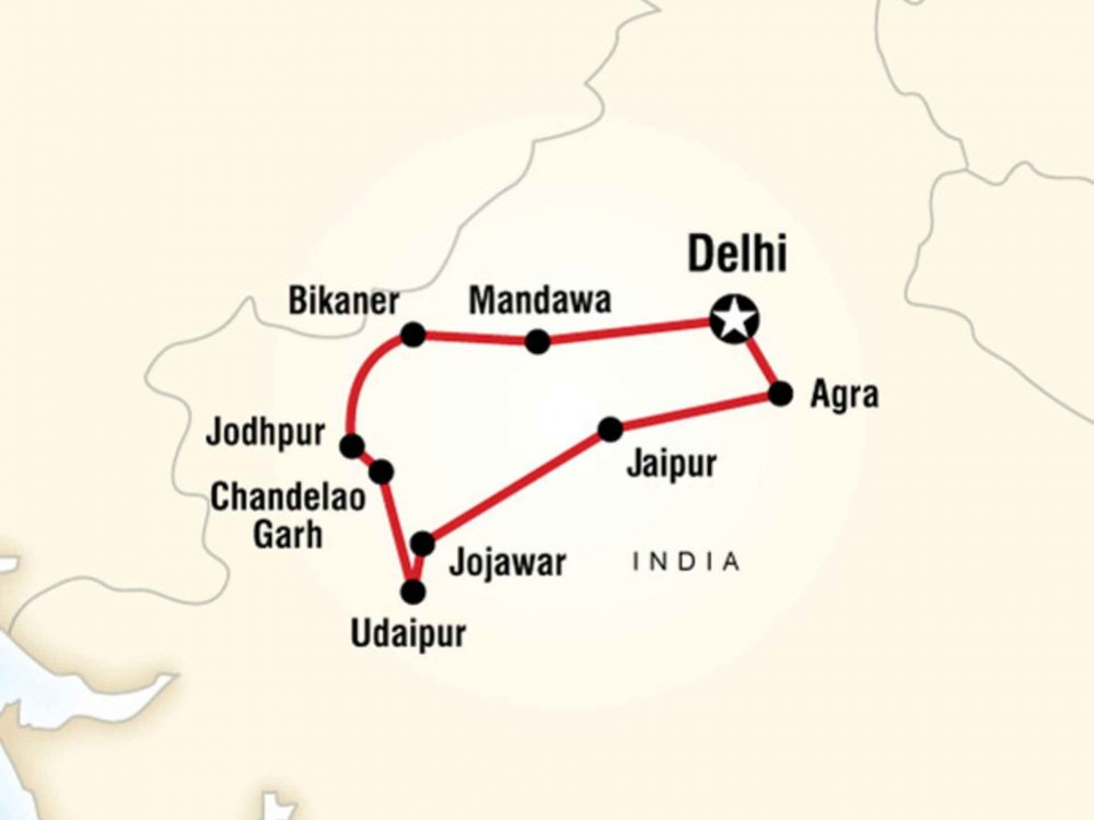 130G35003 Geheimnisvolles Indien Karte