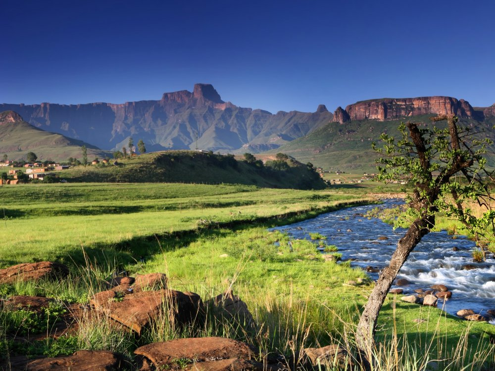 Gebirgslandschaft Drakensberge