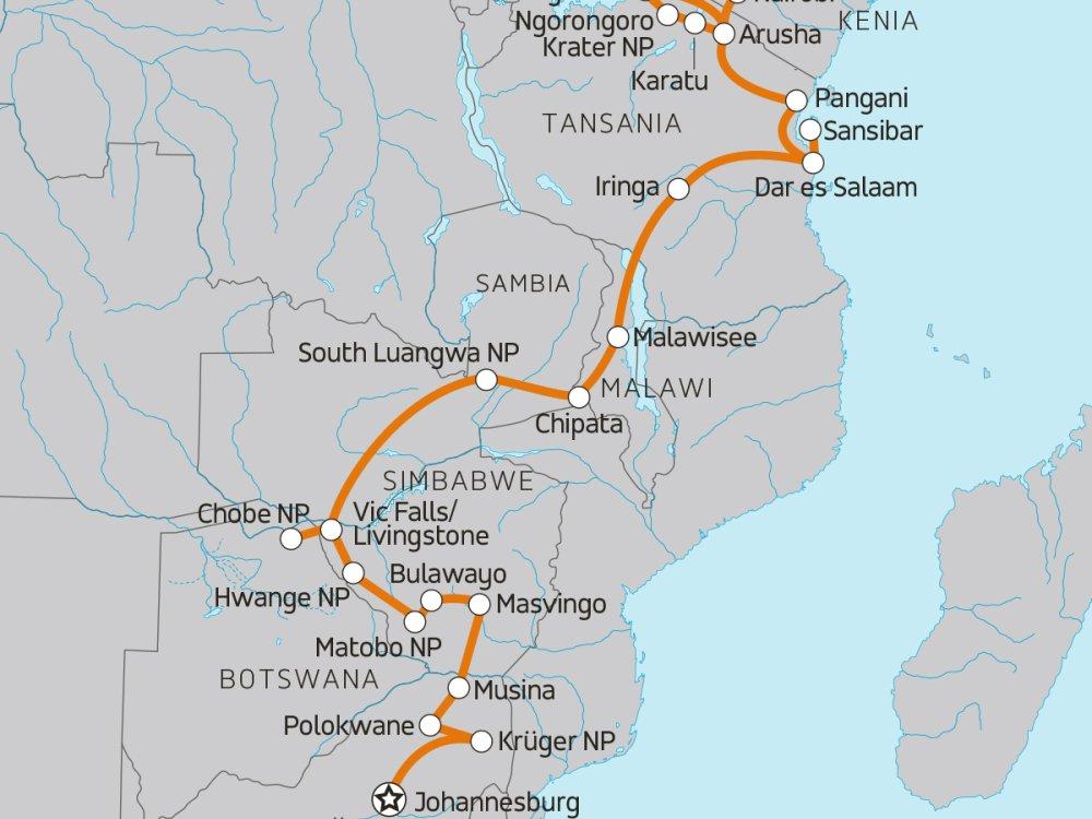 Camping-Abenteuer von Johannesburg nach Nairobi