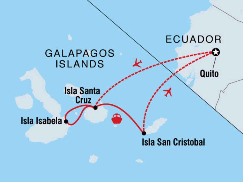 122Y60415 Galapagos Venture Karte
