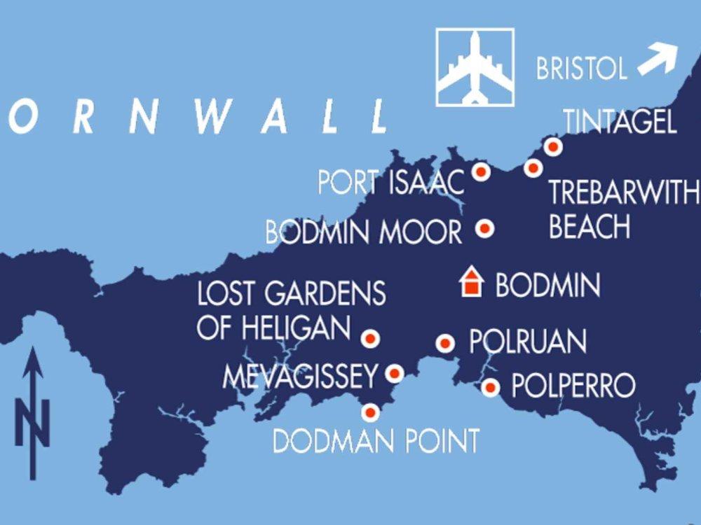 123B30017 Cornwall - Wandern am schönsten Ende Englands Karte