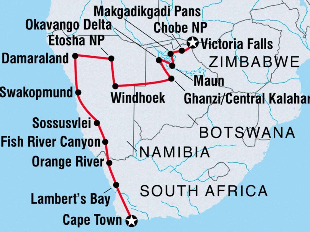 122Y60040 Wild Afrika Karte