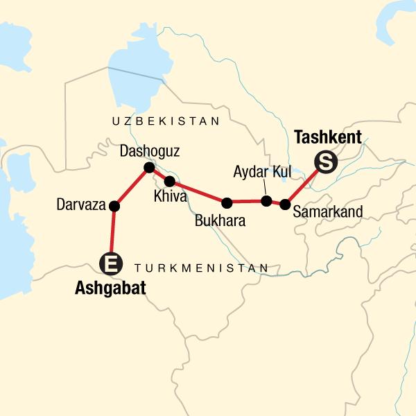 Das Beste von Usbekistan und Turkmenistan