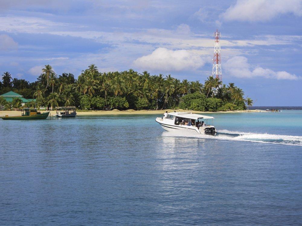 Malediven Anlegestelle für Boote