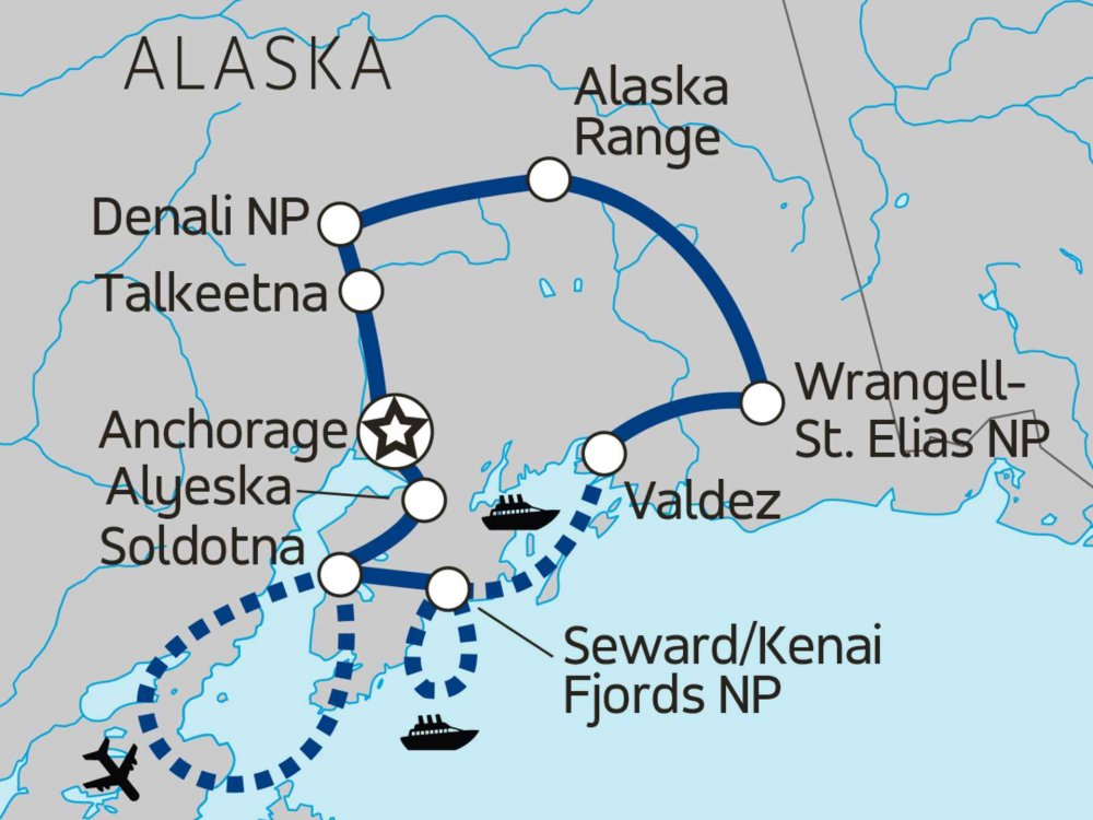 Alaska, Wildlife & Wilderness Karte