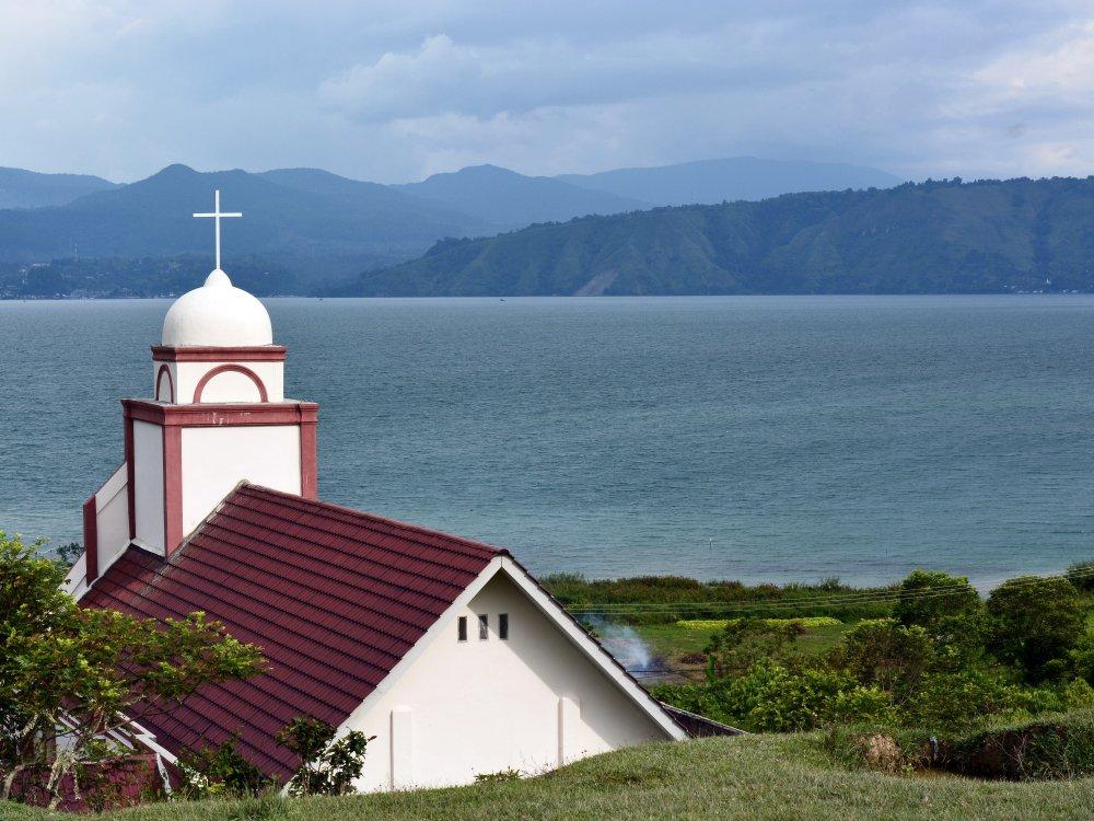 Kirche am Lake Toba
