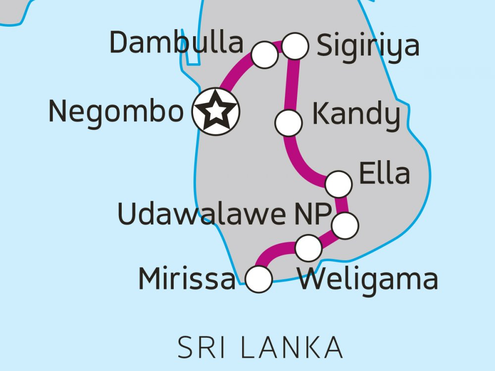 Sri Lank Inselabenteuer-karte