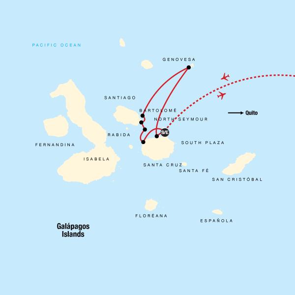 Galapagos Kreuzfahrt – Nördliche und zentrale Inseln an Bord der Eden