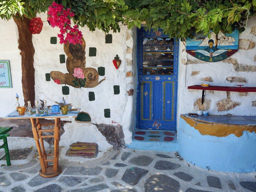 Taverne in der Altstadt von Amorgos
