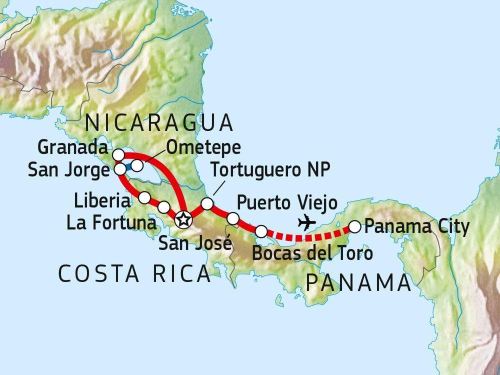 121Y10010 Preiswert durch Mittelamerika Karte