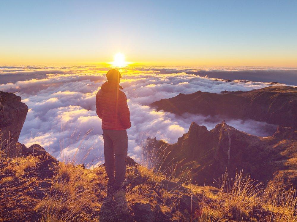 Madeira Gipfel und Blick auf Wolken