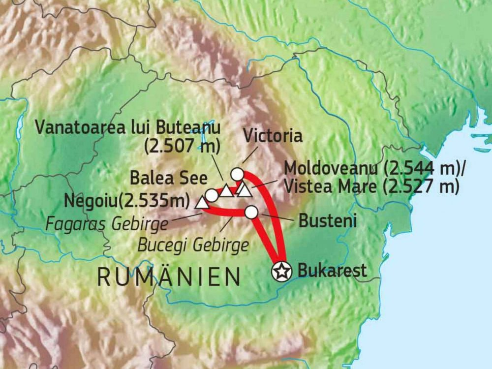 137B20010 Gipfel der Südkarpaten Karte