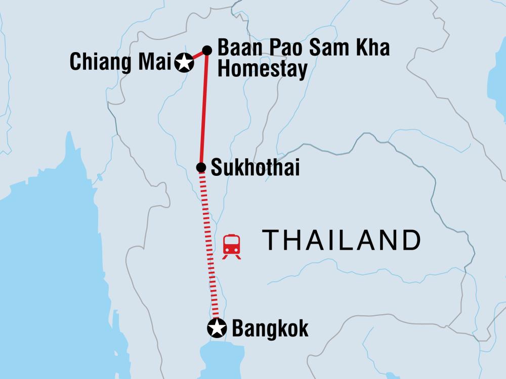 Schätze Nord-Thailand Karte