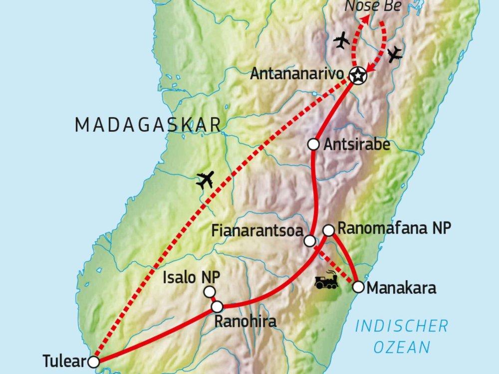 119Y82003 Naturparadies Madagaskar & Dschungelexpress Karte