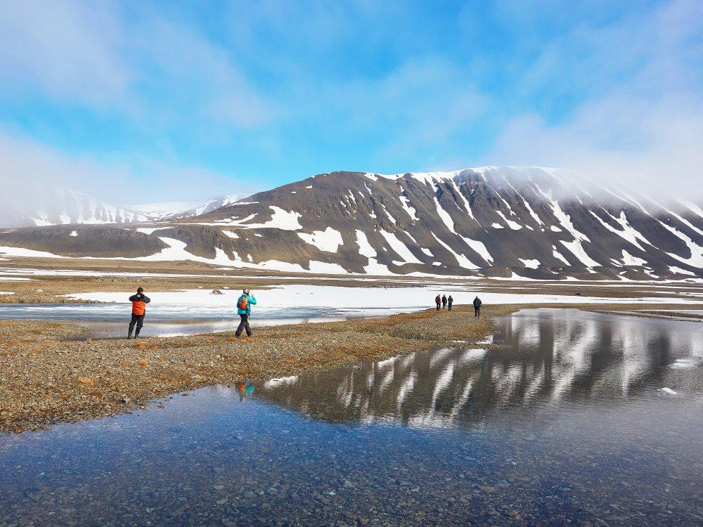 Landgang in Nord Spitzbergen