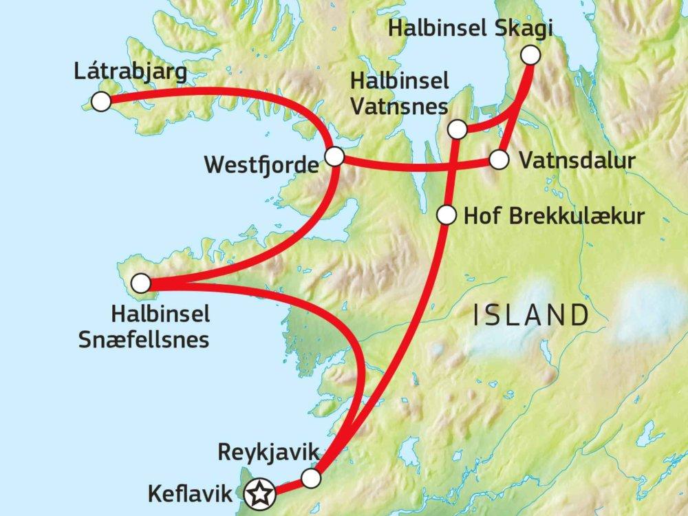 145Y21004 Island - Frühlingsperle Karte
