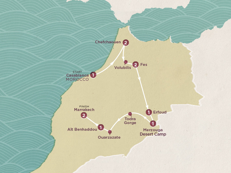 Entdeckungsreise Marokko Karte