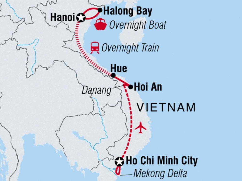 122Y50098 Entlang der Küste von Vietnam II Karte
