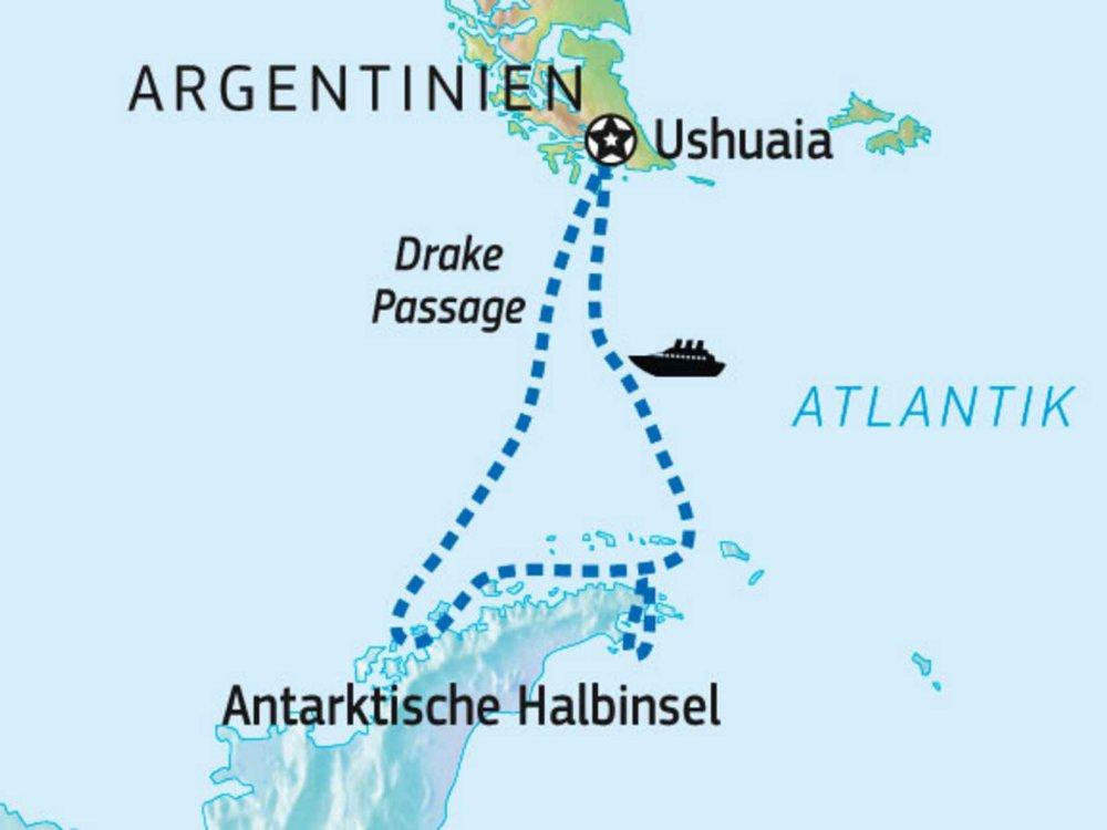 Antarktis Explorer Karte