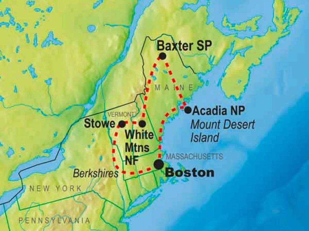 139G10053 Appalachian Trail Wanderung Karte