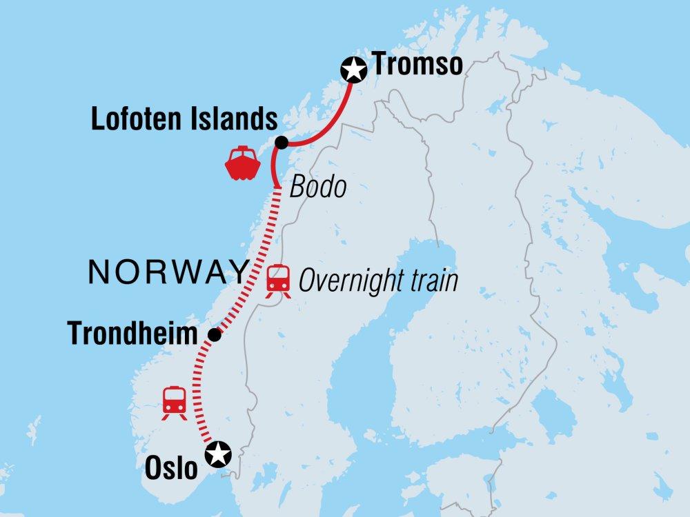 Nord-Norwegen Karte