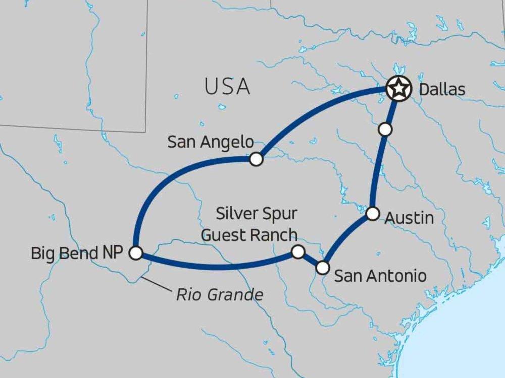 139G10058 Texas Ranger Karte